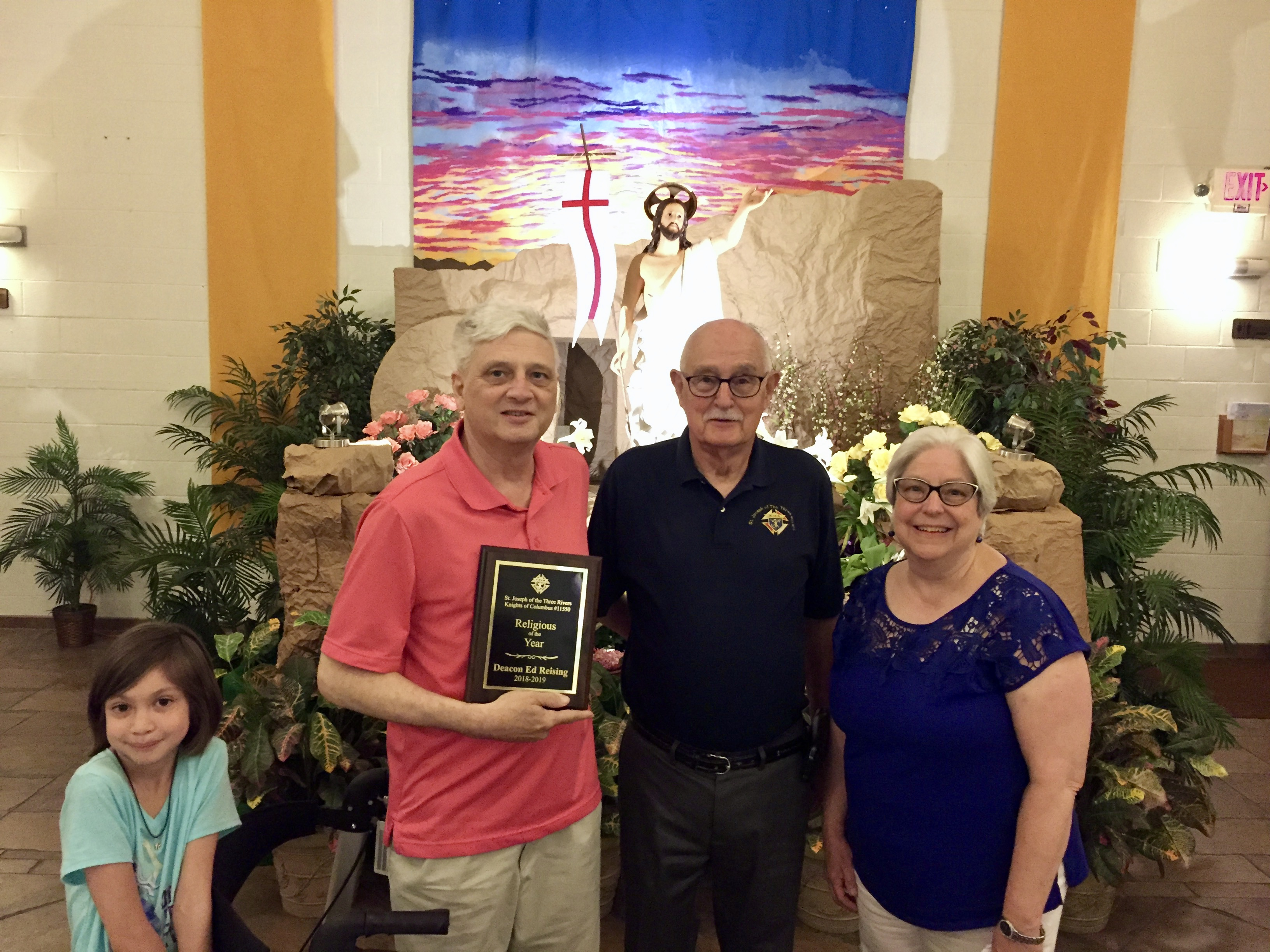 Religious of the Year Deacon Ed Reising