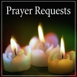 Prayer Requests (three lit candles)